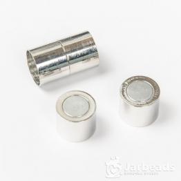 Замочек магнитный для жгута вн.d.15мм (серебро)