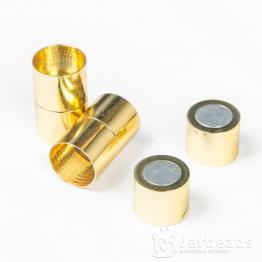 Замочек магнитный для жгута вн.d.15мм (золото)