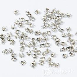 Каллоты 4*3,5мм  с ушком (серебро) 10пар