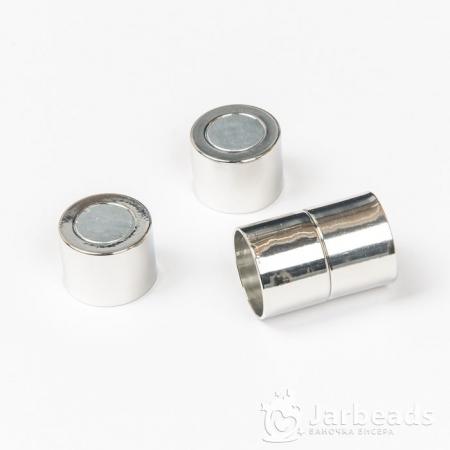 Замочек магнитный для жгута вн.d.12мм серебро