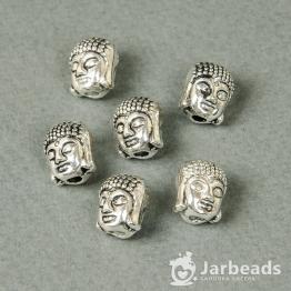 Бусина металлическая Будда 10*11мм (серебро)