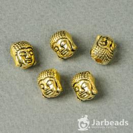 Бусина металлическая Будда 10*11мм (золото)