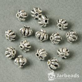 Бусина металлическая Китайский фонарик 8*8мм (серебро)