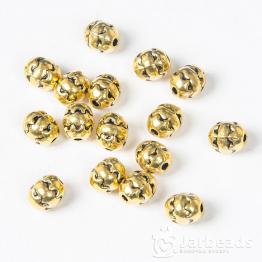 Бусина металлическая овальная Яичко 6*8мм (золото)
