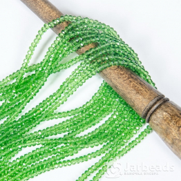 Кристаллы 2*3мм зеленый прозрачный 200штук