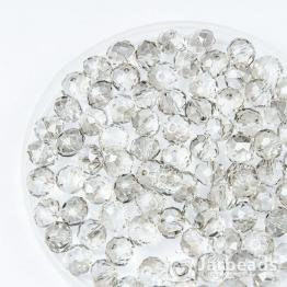 Кристаллы рондель 6*8мм серый прозрачный 10штук