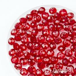 Бусины-кристаллы рондель 6*8мм красный темный прозрачный 10штук арт.5475