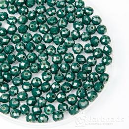 Кристаллы рондель 5*6мм зеленый темный керамика 10штук