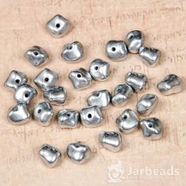 Бусины стеклянные PRECIOSA камушки 5*7мм (серебряный) 10штук