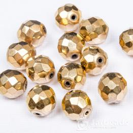 Бусина стеклянная граненая PRECIOSA 12мм (золото)