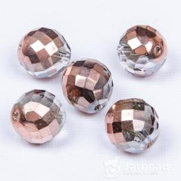 Бусина стеклянная граненая PRECIOSA 18мм (розовое золото)