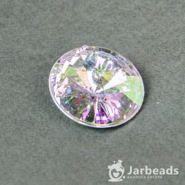 Страза риволи акриловая круглая 30мм (хрусталь радуга)