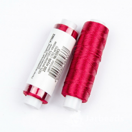Нитки Вискоза 100% для вышивки и кистей 183м (темно красный) №3063