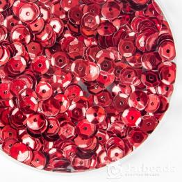 Пайетки круглые металлик с гранями 6мм (красный) 10гр ZC №03