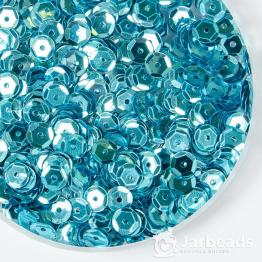 Пайетки круглые металлик с гранями 6мм (бирюзовый) 10гр ZC №19