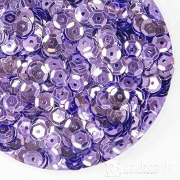 Пайетки круглые металлик с гранями 6мм (ярко сиреневый) 10гр ZC №05