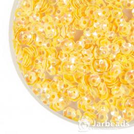 Пайетки цветок тюльпан 5мм (желтый) 10гр №099