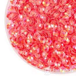 Пайетки цветок тюльпан 5мм (коралловый) 10гр №109