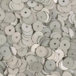 Пайетки круглые матовые 6мм (серебристый) 10гр ZF-26 №002