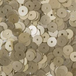 Пайетки круглые матовые 6мм (бледно золотой) 10гр ZF-26 №039