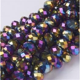 Бусины-кристаллы рондель 6*8мм бензин 10штук арт.5867