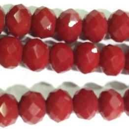 Бусины-кристаллы рондель 6*8мм красный темный керамика 10штук арт.17437