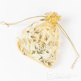 Мешочки из органзы Розы 9*12см (золотой)