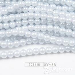 Бусины на нити Жемчуг пластиковый 8мм 100шт (серо-голубой) арт.00046В