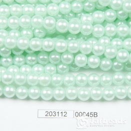 Бусины на нити Жемчуг пластиковый 8мм 100шт (мятно зеленый) арт.00045В
