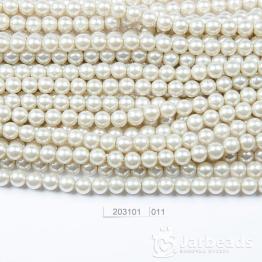Бусины на нити Жемчуг пластиковый 8мм 100шт (серебристо серый) арт.011