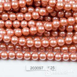 Бусины на нити Жемчуг пластиковый 8мм 100шт (тирамису) арт.025