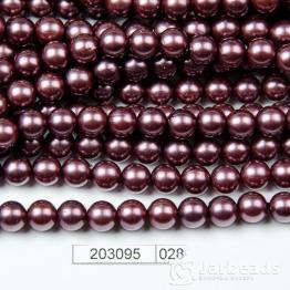 Бусины на нити Жемчуг пластиковый 8мм 100шт (сиреневый темный) арт.028
