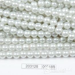 Бусины на нити Жемчуг пластиковый 8мм 100шт (серый дымчатый) арт.00018В