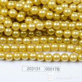 Бусины на нити Жемчуг пластиковый 8мм 100шт (оливковый) арт.00017В