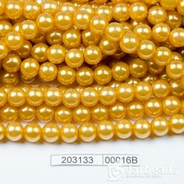 Бусины на нити Жемчуг пластиковый 8мм 100шт (горчица) арт.00016В