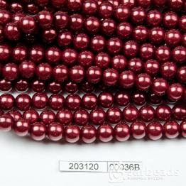 Бусины на нити Жемчуг пластиковый 8мм 100шт (гранат темный) арт.00036В