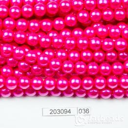 Бусины на нити Жемчуг пластиковый 8мм 100шт (розовый фуксия темный) арт.036