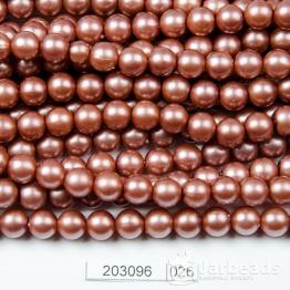 Бусины на нити Жемчуг пластиковый 8мм 100шт (кофе) арт.026