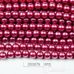 Бусины на нити Жемчуг пластиковый 8мм 100шт (гранат светлый) арт.080