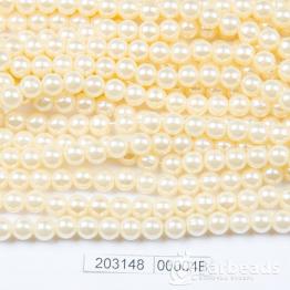 Бусины на нити Жемчуг пластиковый 6мм 140шт (ваниль) арт.00004В