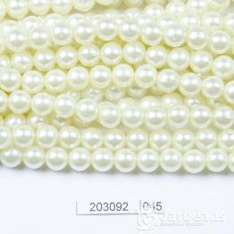 Бусины на нити Жемчуг пластиковый 8мм 100шт (воск) арт.045