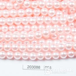 Бусины на нити Жемчуг пластиковый 8мм 100шт (нежно розовый) арт.066