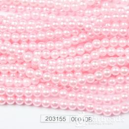Бусины на нити Жемчуг пластиковый 6мм 140шт (розовый) арт.00010В