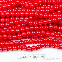 Бусины на нити Жемчуг пластиковый 6мм 140шт (красный клюквенный) арт.00026В