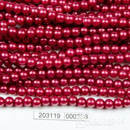 Бусины на нити Жемчуг пластиковый 6мм 140шт (бордовый) арт.00038В