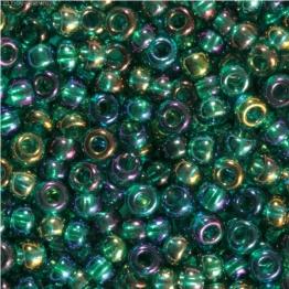 Бисер PRECIOSA 10/0 (50гр) 1сорт цвет: зеленый бензин прозрачный арт.51710