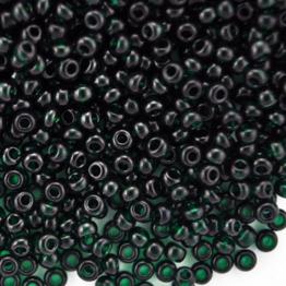 Бисер PRECIOSA 10/0 (50гр) 1сорт цвет: зеленый темный прозрачный арт.50150