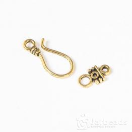 Застежка Большой крючок 11*24мм, кольцо 7*14мм (золото) X-PALLOY-2781-AG-LF
