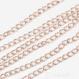 Цепочка длиной 50см звено 5,5*3,5мм (розовое золото)