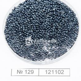 Бисер китайский 12/0 (450гр) черный гематит арт.129
